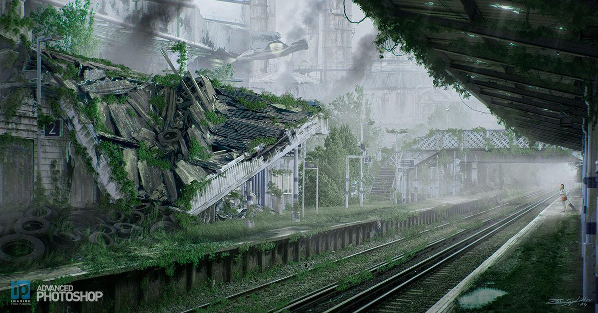 Destroyed Trainstation